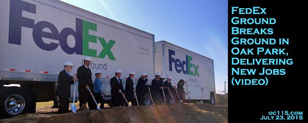 FedEx Ground Breaks Ground In Oak Park, Delivering New Jobs (video) ·  GallowayCollensTOPsunsetREVISED  Fedex Jobs