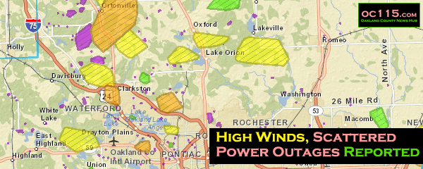 High Winds Scattered Power Outages Reported Oakland County Times