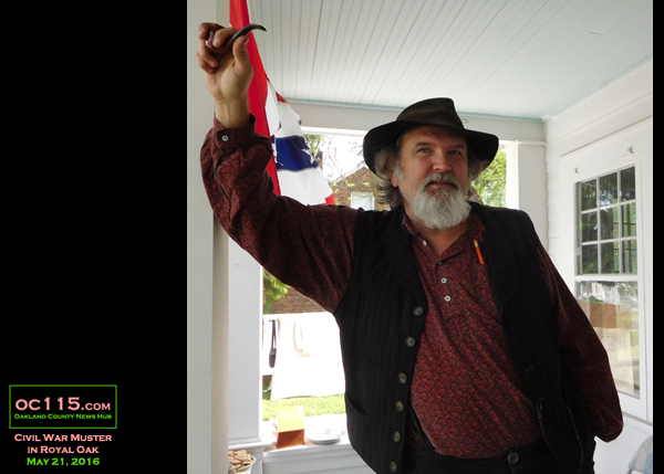 20150528_civil_war_muster_royal_oak_starr_house_man on porch