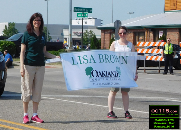 20160528_madison heights parade_county clerk lisa brown