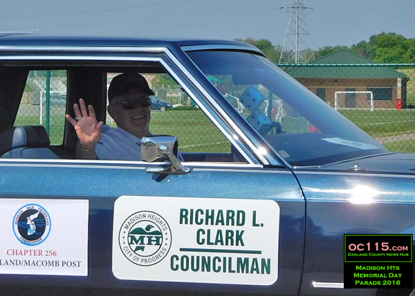 20160528_madison heights parade_richard clark councilperson