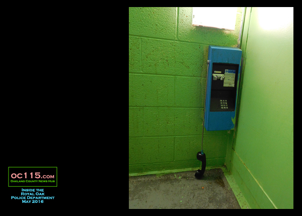 20160601_Royal Oak Jail Building Tour_016_ payphone green wall