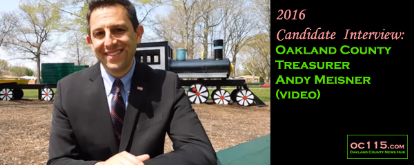 20160610Candidate Interview Andy Meisner Oakland County Treasurer 2016
