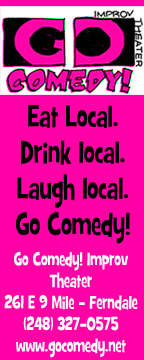 Go Comedy Ad hot pink