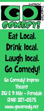 Go Comedy Ad leafy green