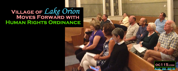 20160723_Village of Lake Orion Moves Forward with Human Rights Ordinance_titlf