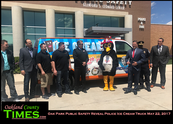 Oak park police unveil community ice cream truck oakland - Garden city michigan police department ...