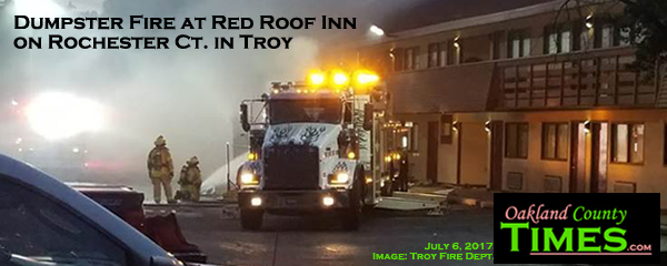 Dumpster Fire At Red Roof Inn On Rochester Ct In Troy