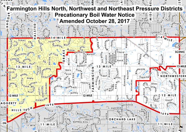 Boil Water Advisory Extended for NW Farmington Hills The Oakland