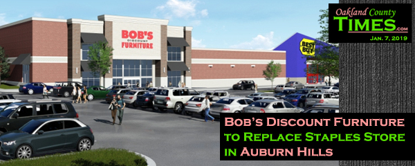 Bob S Discount Furniture To Replace Staples Store In Auburn Hills